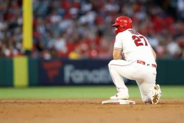 通算200盗塁をマークしたエンゼルスのマイク・トラウト【写真:Getty Images】