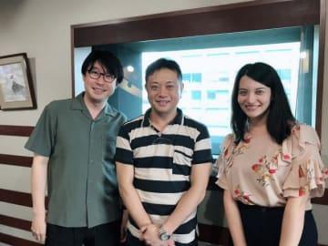 (左から)鈴村健一、岩田光央さん、ハードキャッスル エリザベス