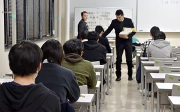 大学入試センター試験初日の様子=1月19日午前9時すぎ、さいたま市桜区の埼玉大学