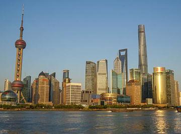 上海市内の高層ビル群