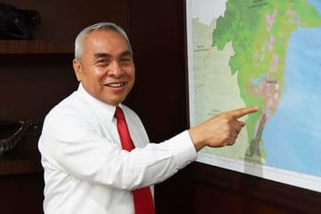 East Kalimantan Governor Isran Noor speaks about the possible locations of Indonesia's new capital in Samarinda, the capital of the province on Borneo Island in an exclusive interview with NNA on Sept. 2.