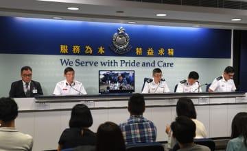 香港警察、条例改正に関する騒ぎで計1117人逮捕