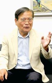 「現状での消費増税は反対」と訴える鉢呂参院議員