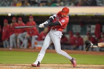 第3打席に二塁打を放ったエンゼルス・大谷翔平【写真:Getty Images】