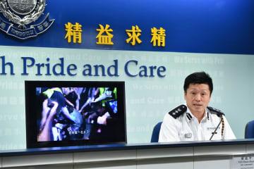 香港警察、条例改正に関する騒ぎで計1140人逮捕