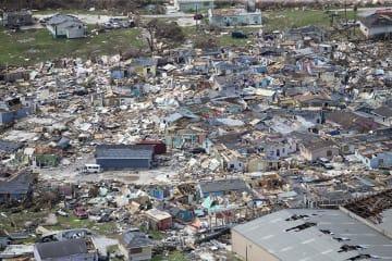 ハリケーンの被害を受けたバハマ北部の島=4日(AP=共同)