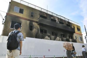 放火殺人事件の現場となった「京都アニメーション」第1スタジオ=7月30日、京都市伏見区