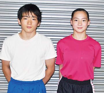 ジョイスポで練習する後藤さんと鈴木さん
