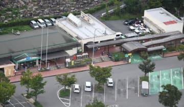 細井容疑者が妻のヨシ子さんを殺害した現場とされる安佐SA(4日午前10時14分)