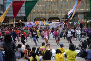 Filipinos gathering in Central, Hong Kong for a cultural event in November 2018. File photo: Global Voices.