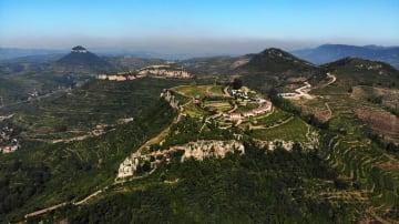 自然の造形美 山東省・岱崮地貌風景区