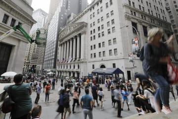 ニューヨーク証券取引所=8月(AP=共同)