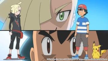 「ポケットモンスター サン&ムーン」の「決勝戦!最強ライバル対決!!」の一場面 (C)Nintendo・Creatures・GAME FREAK・TV Tokyo・ShoPro・JR Kikaku (C)Pokemon