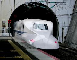新幹線車両=神戸市中央区、JR新神戸駅