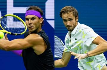 「全米オープン」でのナダル(左)とメドベージェフ(右)