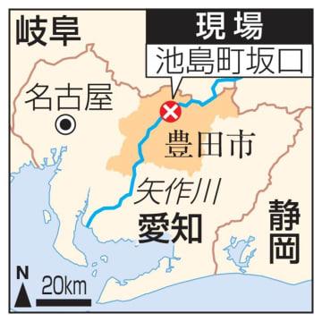 愛知県豊田市池島町・矢作川の現場