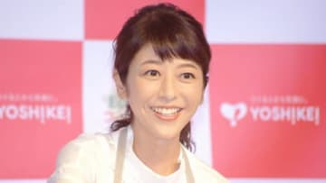 ヨシケイアンバサダー就任記念発表会に登場した白石美帆さん