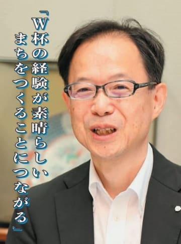 「W杯の経験が素晴らしいまちをつくることにつながる」と話す佐藤樹一郎大分市長