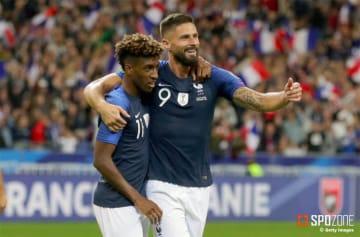 コマンのゴールなどでフランスがホームで圧勝
