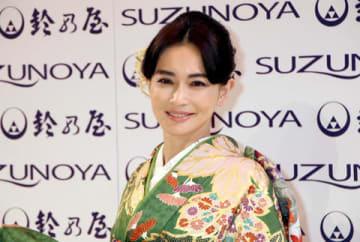 「第58清鈴苑きものショー」に登場した長谷川京子さん