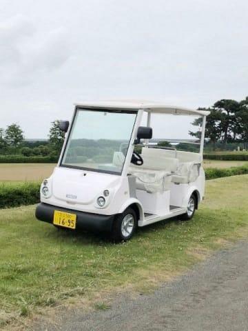 実証調査で使われる超小型電気自動車「グリーンスローモビリティ」