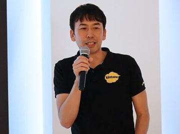 サイボウズ中国の取り組みを説明する増田副総経理