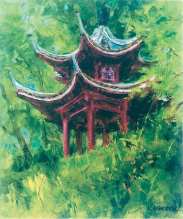 入場無料「好きで描いた油絵展」身近な風景や草花など@アート杉山(厚木市)