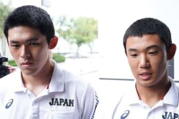 侍ジャパンU-18代表の大船渡・佐々木朗希(左)と星稜・奥川恭伸【写真:荒川祐史】