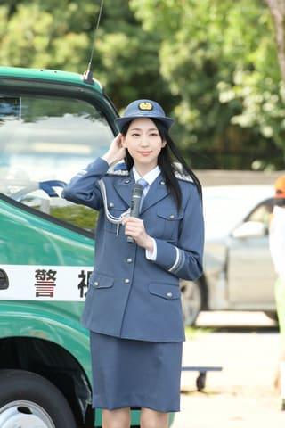 光が丘警察署の一日警察署長に就任した是永瞳さん