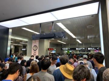 Daichi Ito / BuzzFeed 18時半頃、成田空港の京成線改札口の様子