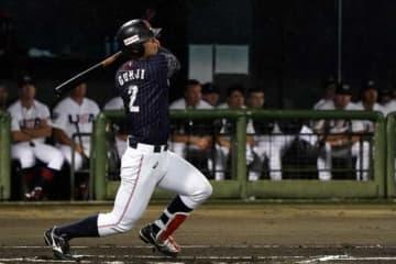 日米大学野球に侍ジャパン代表として出場していた慶應・郡司裕也【写真:Getty Images】