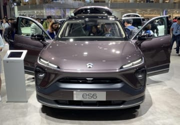 Nio's second mass-produced SUV model ES6 was showcased during this year's Auto Shanghai in April, 2019 (Image credit: TechNode/Chris Udemans)