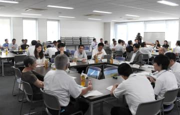 市と民間事業者がソレイユの丘について意見交換した =横須賀商工会議所
