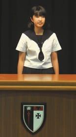 英語力や発音などを披露し合った「海星学院杯中学生英語弁論大会」