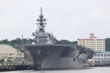 護衛艦「いずも」横浜港大さん橋で一般公開 赤レンガパークでイベントも