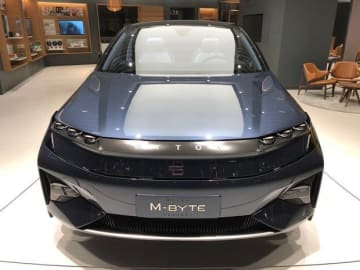 A Byton showroom on West Nanjing Road in Shanghai on March 3, 2019. (Image credit: TechNode)
