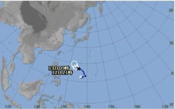 フィリピンの東にある熱帯低気圧(気象庁のHPより)