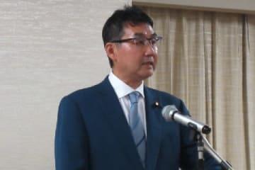 会見した河井克行法相(9月11日、弁護士ドットコム撮影)