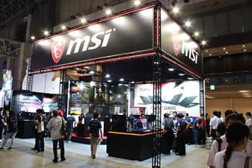9月12日に開幕した「東京ゲームショウ2019」のMSIブース