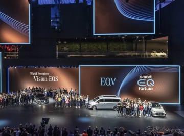 メルセデスベンツの電動車、「EQ」シリーズ(フランクフルトモーターショー2019)