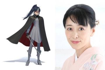 ゲーム「新サクラ大戦」に登場する夜叉(左)と声優を務める横山智佐さん(C)SEGA