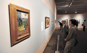 ストラスブール近現代美術館が所蔵する作品が並ぶ館内=宮城県美術館