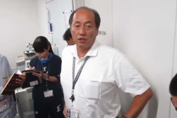 取材に応じる西武・渡辺久信GM【写真:安藤かなみ】