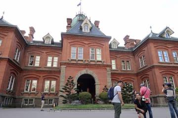 リニューアルのため休館する札幌市の「北海道庁旧本庁舎」=4日