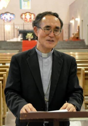 ローマ法王の広島訪問決定を喜ぶ白浜司教