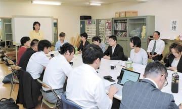 県議選の対応を協議する立民県連の幹事会