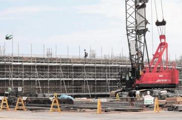 建設中の伝承館。福島県の責任をどう明記するかが問われる