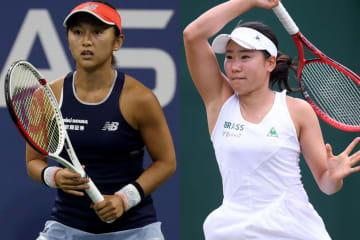 土居美咲(左)と日比野菜緒(右)