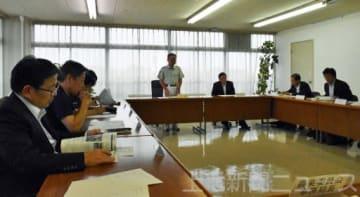 渋川市役所で開かれた防疫会議