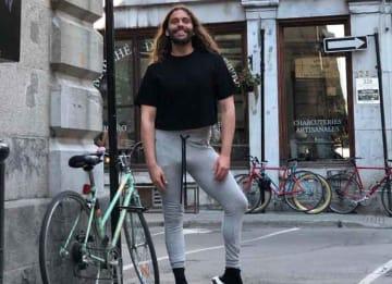 Jonathan Van Ness Pops A Leg On Montreal Street Corner